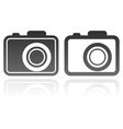 set of camera icons vector image