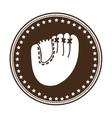 sober baseball emblem or label icon image vector image