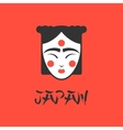 stylized of a beautiful geisha vector image