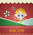 with backtoschool and geek vector image