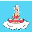 Lotus Pose Yoga Girl vector image