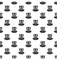 Top hat pattern simple style vector image