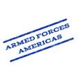 Armed Forces Americas Watermark Stamp vector image