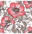 Seamless floral vintage pattern vector image