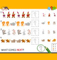 complete the pattern activity game vector image
