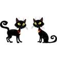Halloween terrible Black Cat vector image vector image