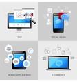 SEO web mobile concepts vector image