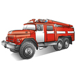 russian fire engine vector image vector image
