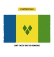 scratched flag of Saint Vincent and the Grenadines vector image