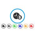 bitcoin credit clock flat icon vector image