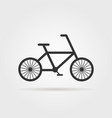 black simple bicycle emblem with shadow vector image