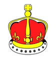 british crown icon cartoon vector image