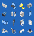 iot internet of things isometric icon set vector image