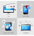 SEO web mobile concepts vector image