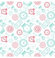 pattern collection with watches vector image