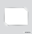 White note paper vector image