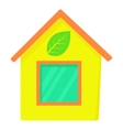 Eco house icon cartoon style vector image