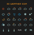 Full color weather icon set vector image vector image