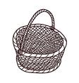 The empty basket vector image vector image