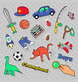 stickers boys theme toys sports car vector image