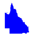 Map of Queensland vector image