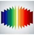 Perspective rainbow abstract rectangles on white vector image