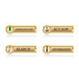 gold buttons set vector image vector image