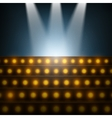 Stairs with Spotlights to Illuminated Stage vector image vector image