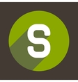Letter S Logo Flat Icon Style vector image