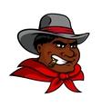 Cartoon cowboy character smoking cigar vector image vector image