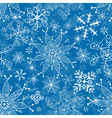 Seamless christmas blue pattern vector image