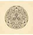 Round calligraphic emblem floral symbol vector image