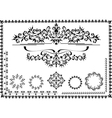 Black ornamental frame vector image