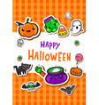 greeting card with cute halloween vector image