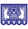mexican sugar skull design papel picado vector image