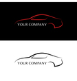 Red and black car logos vector image