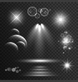 set of transparent light effects and sparkles vector image