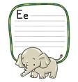 Little funny elephant or jumbo Alphabet E vector image