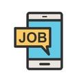 Job Notification vector image