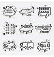 transport infographic vector image