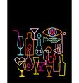 nightclub neon sign vector image vector image