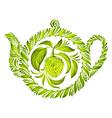 decorative ornament herbal teapot vector image vector image