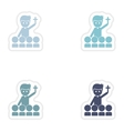 Set of paper stickers on white background priest vector image