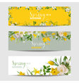 Spring flower banner set vector