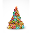 Abstract Tree Christmas background vector image
