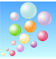 Color bubbles in the sky vector image