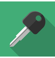 Colorful car key icon in modern flat style with vector image