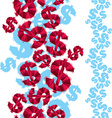 Dollar signs seamless pattern vertical composition vector image