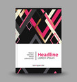 Geometric background template for covers flyers vector image