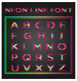 neon lines font vector image